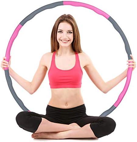 FREEDM Hula Hoop für Erwachsene & Kinder zur Gewichtsabnahme und Massage, EIN 6-8-Teiliger Abnehmbarer Hula-Hoop-Reifen für Fitness/Training/Büro