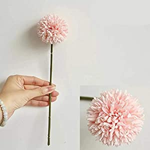 Jasion 10pcs Artificial Chrysanthemum Ball Flowers Bouquet for Present Home Office Coffee House Parties and Wedding Decoration 2