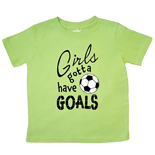 inktastic - Girls Gotta Have Goals- Soccer Toddler T-Shirt 3T Key Lime 2c19e