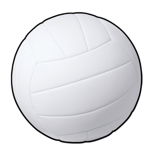 Beistle 24-Pack Volleyball Cutout, 13-1/2-Inch]()