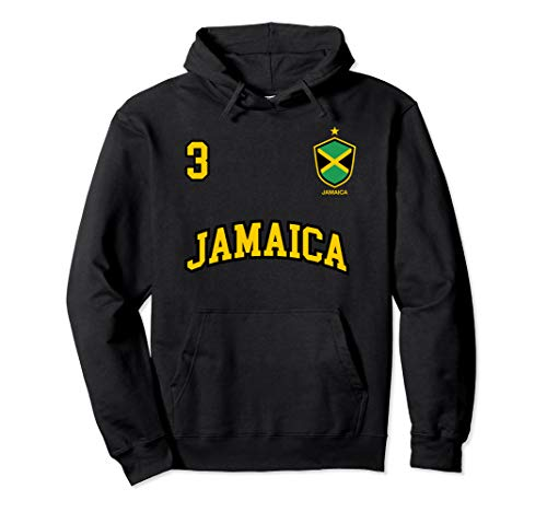 (Jamaica Hoodie Number 3 Soccer Team Sports Jamaican)
