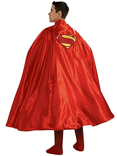 Rubie's Costume Deluxe Adult Cape with Embroidered Superman Logo, Red, One Size]()