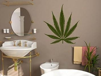 Stickers Muraux Tatouage Mural Feuille De Cannabis Dans De