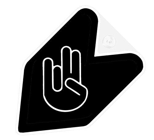 - JDM Black Shocker Car Flag Decal Wakaba Driver Badge not vinyl sticker
