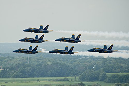 Home Comforts Laminated Poster The U.S. Navy Flight Demonstration Squadron, The Blue Angels, Fly in The Delta Formation at The Vect Vivid Imagery Poster Print 24 x 36