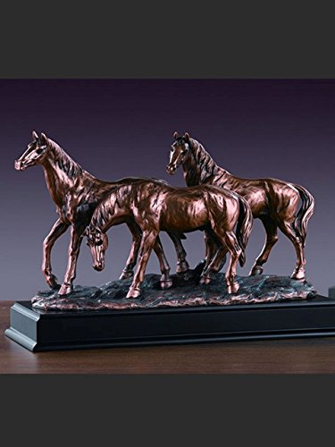 Marian Imports F53165 Three Horses Grazing Bronze Plated Resin (Bronze Plated Resin)
