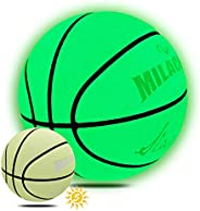 MILACHIC Basketballs, Glow in The Dark Basketball, Holographic Reflective Glowing Basketball, Youth Size 5/27.