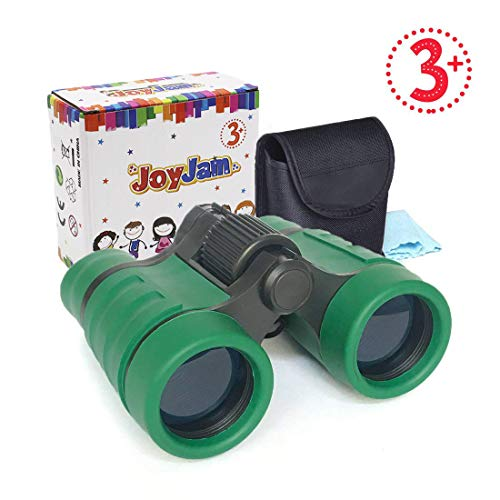 Joyjam Gifts for Boys 4-6 Years Old, Childrens Binoculars Optics Zoom, Lightweight with Case and Strap Christmas Thanksgiving Gifts Party Favors for Kids (Green)