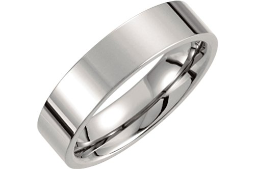 Titanium 6mm Comfort Fit Flat Band, Size 13 by The Men's Jewelry Store (Unisex Jewelry)