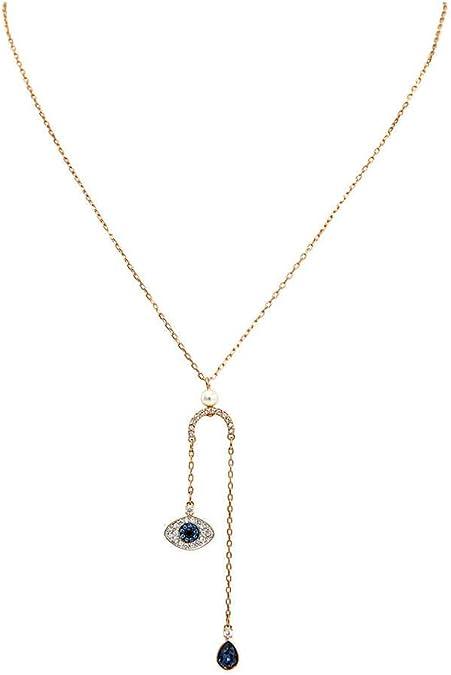Matt Rhodium Plated Big Evil Eye Pendant 2pcs Evil Eye Necklace Charm NP-2062 40mm