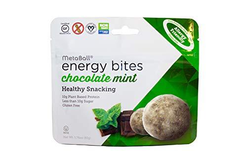 MetaBall Energy Bites – Chocolate Mint, Bite-Sized Protein Snack, Allergy Friendly, Vegan, Kosher, Gluten-Free (10-pack, 1.76 oz)