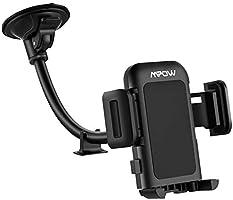 Mpow [Version Mise à jour] Support Téléphone Voiture pour Pare-brise, Réglable à 360 Degrés et Antidérapant, Adapté à un...