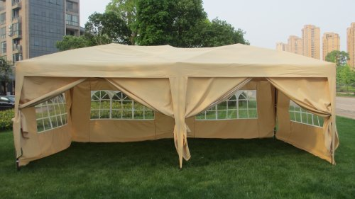 Mcombo 10x20 Ft Easy Pop Up Wedding Canopy Party Tent
