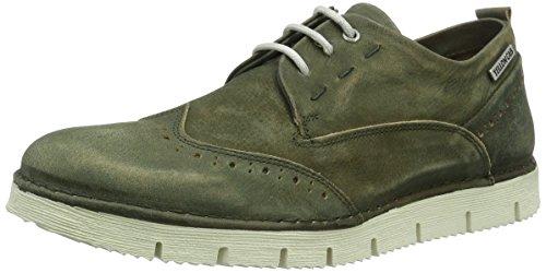 Yellow Cab Crispy M, Zapatos de Cordones Brogue para Hombre Verde