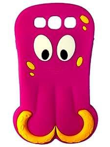SKS Distribution® rosa caliente pulpo calamar OCTOPUS SQUID silicona FUNDA / CARCASA / COVER para Samsung Galaxy SIII S3 I9300
