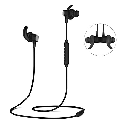 Bluetooth Headphones, ELEGIANT Wireless Earbuds Earphones for Sports HD Stereo IPX4 Waterproof Headset Headphones for Running Workout Gym [8-Hour Play Time, Magnetic Design]