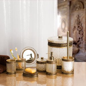 Stunning badezimmer accessoires set photos house design for Bad accessoires design