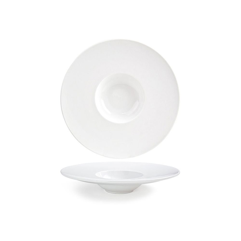 Front of the House DBO053WHP22 Monaco Bowl, 11.5'' Diameter, 2.25'' Height, 7 oz, Porcelain (Pack of 6)