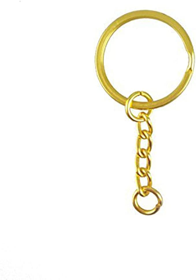 25mm Diameter Gold Tone 1 Gold Key Ring AB32 Key Chains