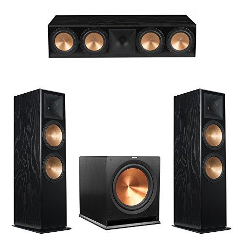 Klipsch 3.1 Black Ash System with 2 RF-7 III Floorstanding Speakers, 1 RC-64 III Center Speaker, 1 Klipsch R-115SW Subwoofer (Klipsch Rc 64 Ii Center Channel Speaker)