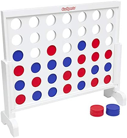 GoSports Giant Wooden 4 in a Row Game –...