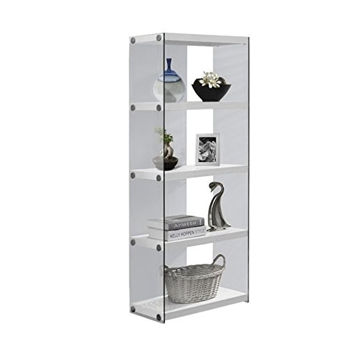 Monarch Specialties I 3289, Bookcase, Tempered Glass