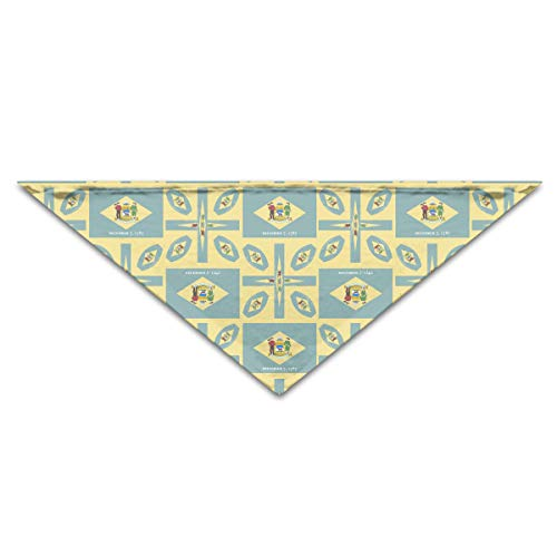 OLOSARO Dog Bandana Delaware-Flag Triangle Bibs Scarf Accessories for Dogs Cats Pets -