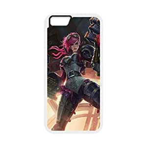 League of Legends(LOL) Vi iPhone 6 Plus 5.5 Inch Cell Phone Case White 11A103731