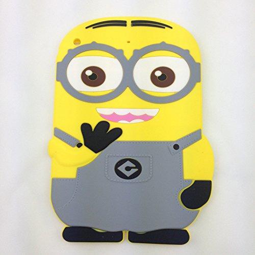 iPad Mini Case,Phenix-Color 3D Cute Soft Silicone Despicable Me [Drop Proof,Shock Proof,Anti Slip] Panda Teddy Bear Dog Cartoon Gel Rubber Back Cover Case for iPad Mini 1 2 3 - Mitch Grey