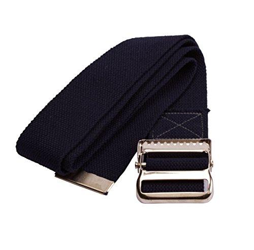 Medline MDT821203B Washable Cotton Gait Belt, 2'' x 60'', Black by Medline