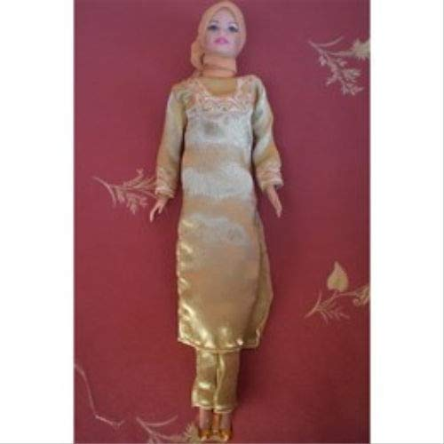 Satin Muslim Doll Clothes With Hijab Girls Eid Gift
