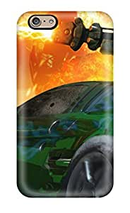 Tpu Cody Elizabeth Weaver Shockproof Scratcheproof Green Car With A Weapo On It Hard Case Cover For Iphone 6