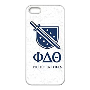 iPhone 4 4s Cell Phone Case White Phi Delta Theta Grey Slanted LSO7759391