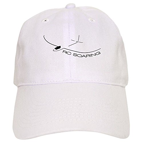 CafePress RC Soaring Cap Baseball Cap with Adjustable Closure, Unique Printed Baseball Hat White ()