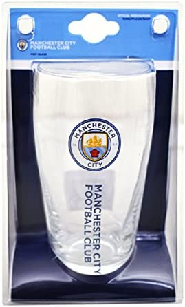 Manchester City Personalised Glass