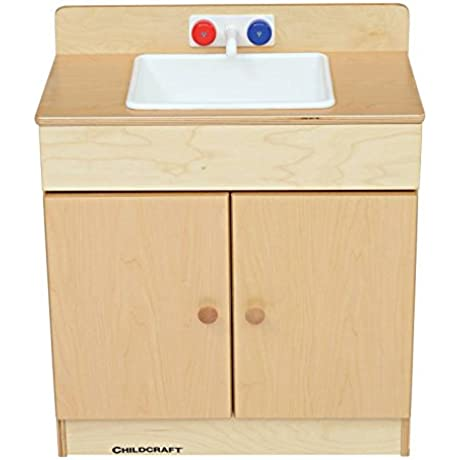 Childcraft 074514 Traditional Play Sink 23 7 8 X 27 3 4 X 13 5 8 Natural Wood Tone