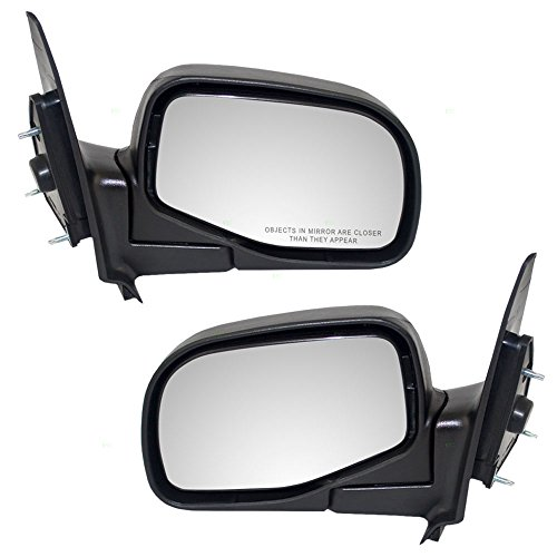 Driver and Passenger Manual Side View Mirrors Styled Type Replacement for Ford Mazda Pickup Truck 4L5Z17683BAA 1F70-69-120 AutoAndArt
