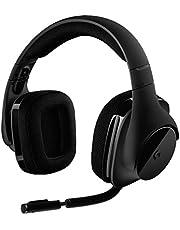 Logitech G533 Wireless Gaming-Headset, 7.1 Surround Sound, DTS Headphone:X 3D, 40mm Pro-G Treiber, 2.4 GHz Verbindung via USB-Empfänger, Noise-Cancelling Mikrofon, 15-Stunden Akkulaufzeit, PC/Mac