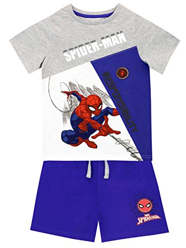 Marvel Boys Spiderman T-Shirt and Shorts Set Multicolored Size 3T -