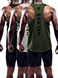 Neleus Men's 3 Pack Dry Fit Workout Gym Muscle Tank...