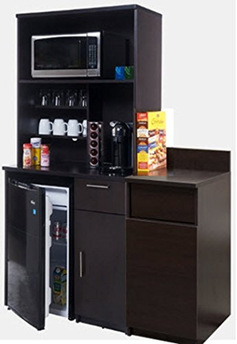 """Breaktime 3 Piece Group Model 2134 Break Room Lunch Room Combo""""Ready-To-Install/Ready-To-Use"""", Color Espresso"""