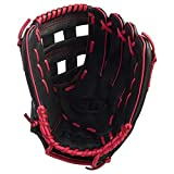 Wilson A360 12-INCH Left Hand (Right Hand Thrower) BASEBALL GLOVE - BLACK/RED