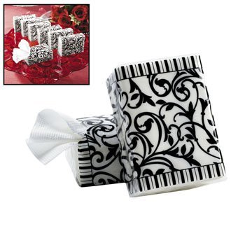 Black & White Wedding Facial Tissue Packs - Party Themes & Events & Party Favors (Pack of -