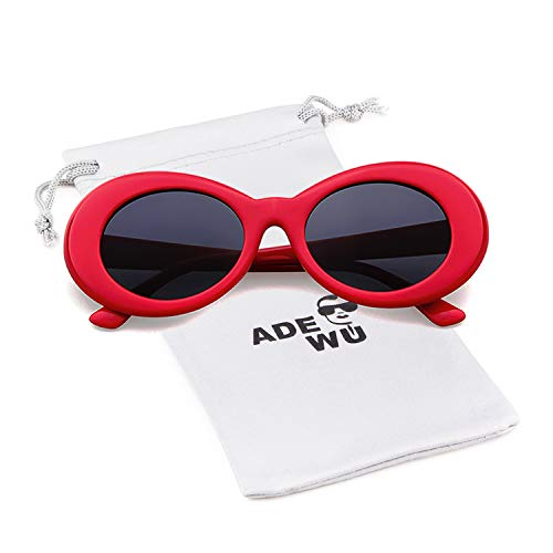 Soleil Clout ADEWU Lunettes Goggles de Ovales Red wFdIqxS