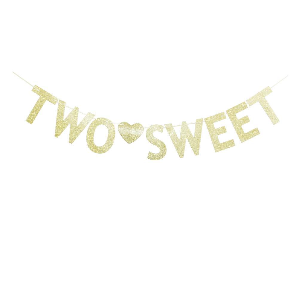 Dos carteles dulces con purpurina dorada, suministros de ...