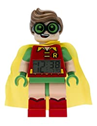 LEGO Batman Movie Robin Kids Minifigure Alarm Clock  | red/green | plastic | 9.5 inches tall | LCD display | boy girl | official