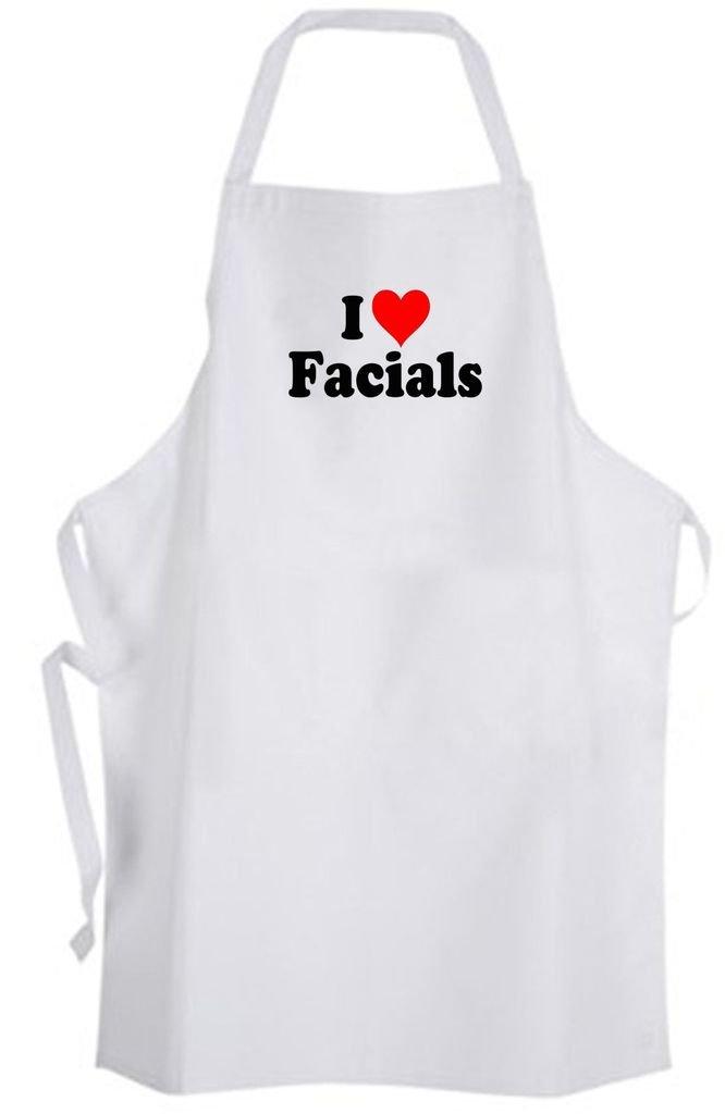 I Love Facials – Adult Size Apron – Spa Skincare Esthetician