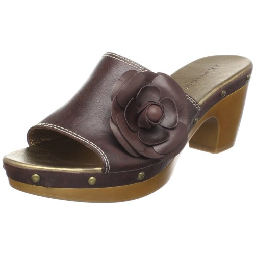 Anne Klein AK Women's Rosemarie Mule,Brown Synthetic,7.5 M (Ak Anne Klein Mules)