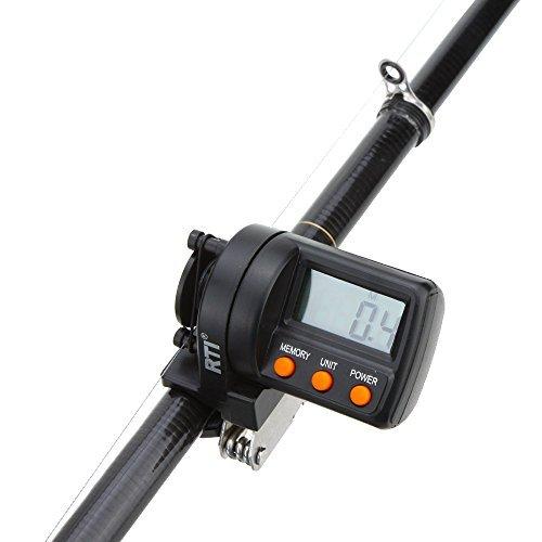 MagiDeal Fishing Line Length Counter 0-999m Depth Finder Gauge Clamp On Rod Tackle