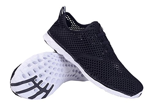 Aqua Womens Lightweight Mesh On Drying Black Quick Shoes Slip Socks Water LANBAOSI zqdwpYz